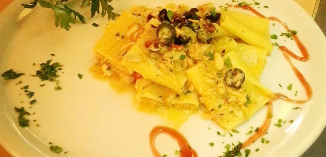 Pasta con pesce spada Bagni Orano, Lacona