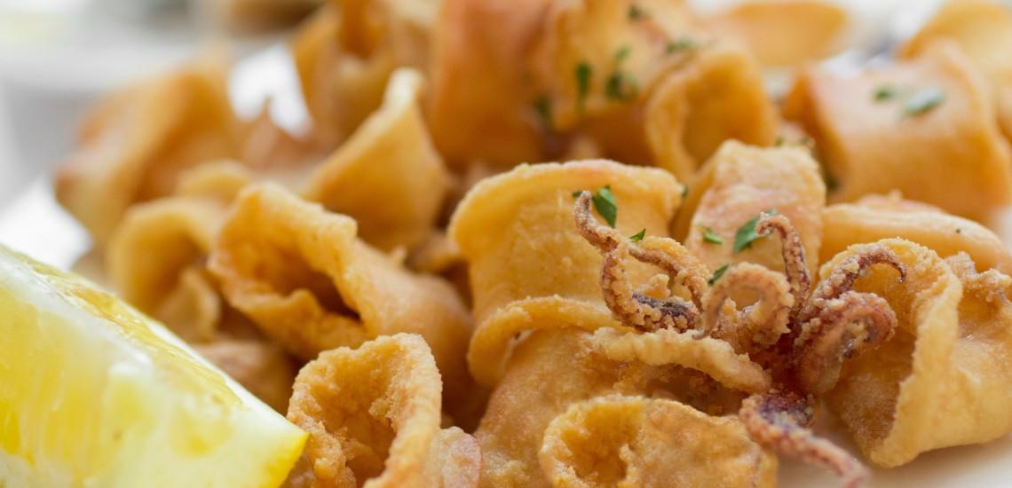 Fritto misto di pesce azzurro e gamberetti del Bagni Orano